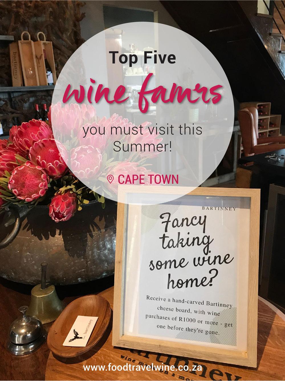 Top 5 Wine Farms
