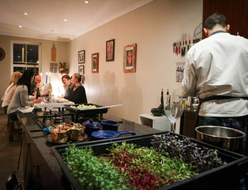 Dinner with Italian chef, Lapo, at his home in Cape Town.