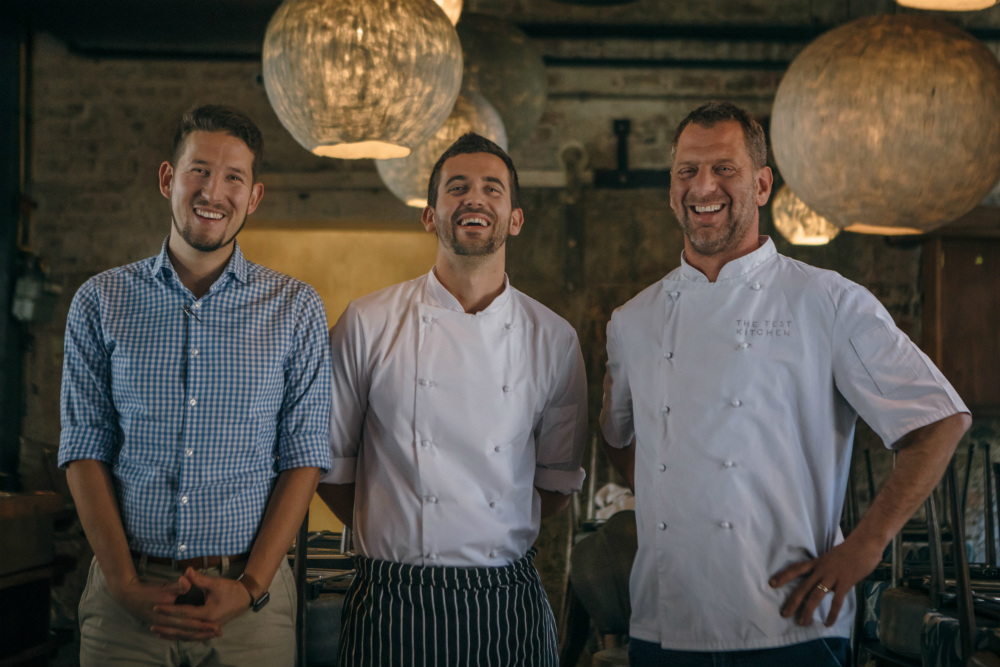 Salsify at The Roundhouse - General Manager Markus Fiedler, Ryan Cole and Luke Dale Roberts
