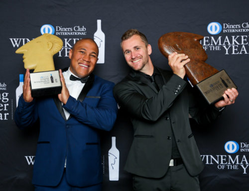A toast to the Diners Club Winemaker and Young winemaker of the year.