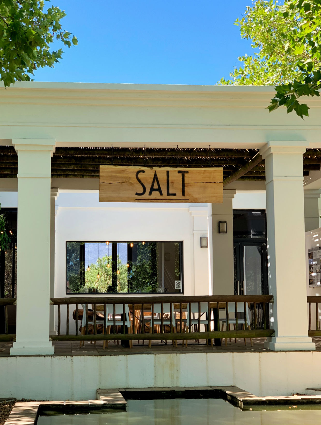 Salt Restaurant at Paul Cluver entrance