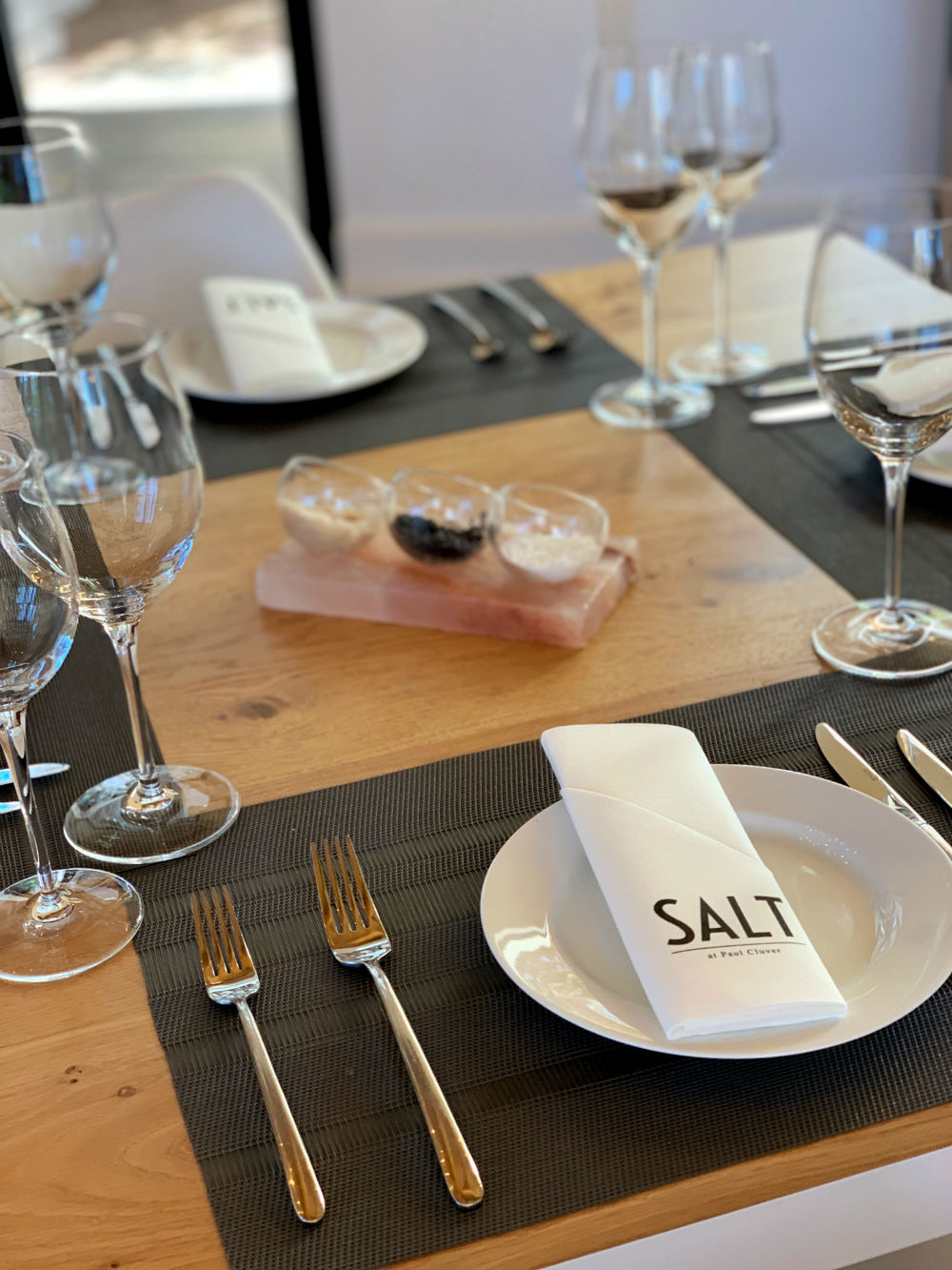 Salt Restaurant at Paul Cluver table setting